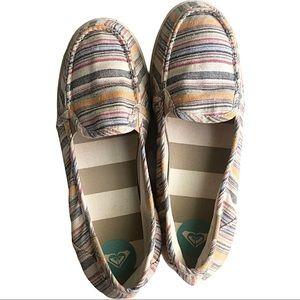 Roxy Boat SHOES Lido Stripe slipon Loafer Flats 10
